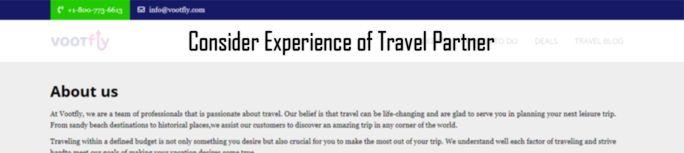 Consider Experience of Travel Partner